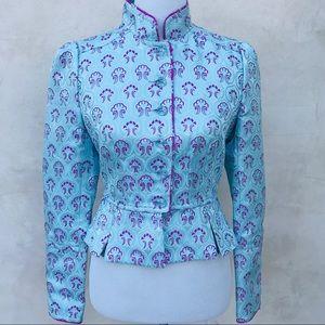 KenzieGirl Satin Embroidered Jacket EUC